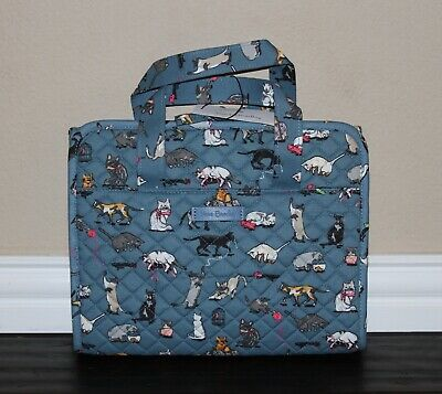 💚 Vera Bradley Iconic Hanging Travel Organizer Cosmetic Bag Cats Cat's Meow NWT