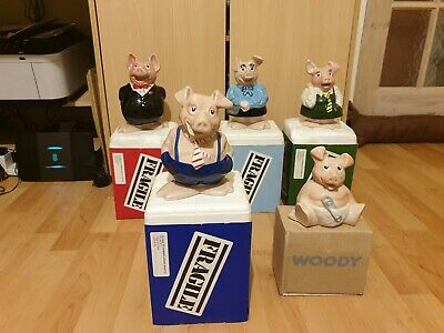 Wade Natwest Pigs In Original Boxes - Full Family Set - Highly Collectible