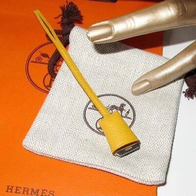 Hermes Yellow Mini Clochette Epsom Bag Charm, New!