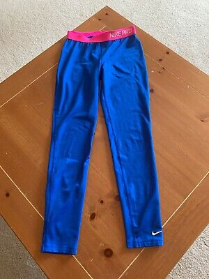 NWT Nike Pro Hyperwarm Compression Allover Print Girl/'s Tights 694404//616