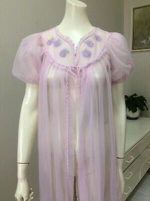 Original Vintage 60s Nightie Nightgown Over Dress  Negligee Lingerie Pinup Retro