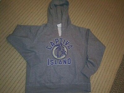 Women's Captiva Island Super Soft Hoodie Sweatshirt Size XXL 2XL Grey Hood