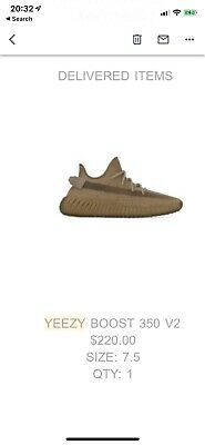 Adidas Yeezy Boost 350 V2 Earth Mens Size 7.5 (FX9033) - CONFIRMED