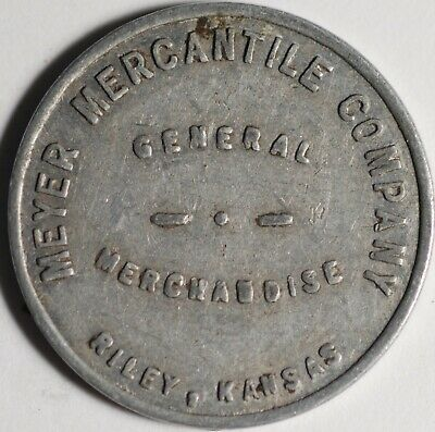 Myer Mercantile Company General Merchandise Token Riley Kansas Good For 10¢ 23mm
