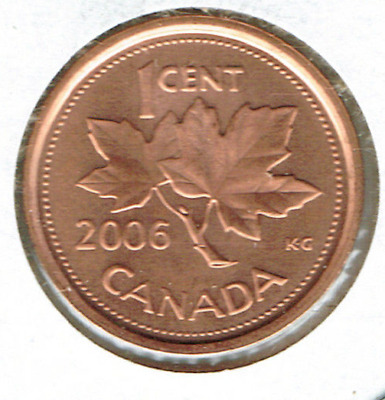 2005-P Uncirculated Canadian Steel Core and 2005 Zinc Core Two Cent Types!