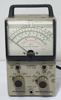Heathkit VTVM IM-18 Vacuum Tube Volt Meter No Probes Powers On