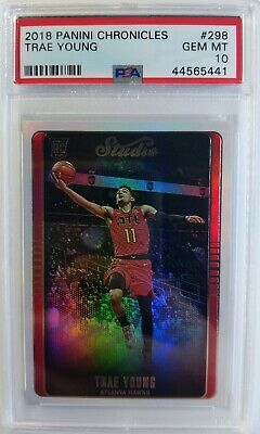 2018-19 Panini Chronicles Studio Trae Young Rookie RC #298, Graded PSA 10