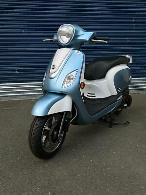 Sym Fiddle III 125cc 125 Scooter Blue/White E4 Lower 2018 Price