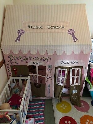 Fabric Riding Stable Children's Playhouse / Play Tent / Wendy House by Win Green