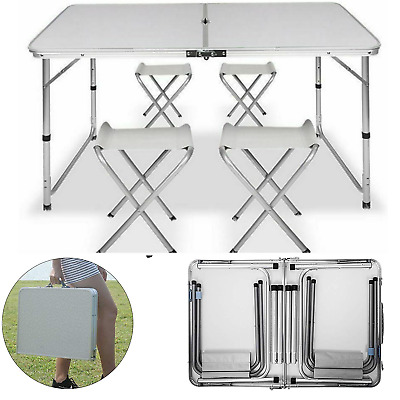 Outdoor Folding  Camping PicnicTable Set 4 Chair Garden Party Picnic BBQ Dining