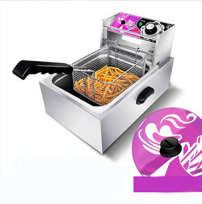 Electric Deep Fry Fryer Pot Home Appliance Kitchen Equipment 28.5X45X31CM #