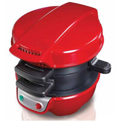 Electricity Sandwich Maker Press Grill Home Appliances Red Full Automatic #