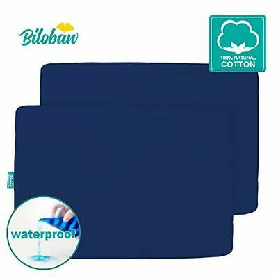 Waterproof Pack N Play Sheets Fitted, 2 Pack Portable Playard/Mini Crib Sheets,