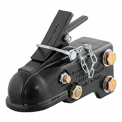 CURT 25328 Channel-Mount Adjustable Trailer Coupler Accepts 2-5/16-Inch Hitch