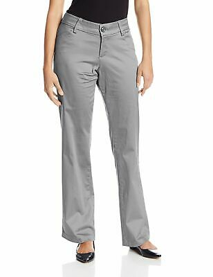 Lee Womens Pants Gray Size 10 Maxwell Curvy Fit Khakis Flat-Front $79 491