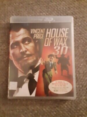 House Of Wax Bluray 3D Brand New Vincent Price Horror Rare Warner Brothers