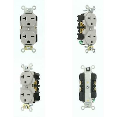 20 Amp Industrial Grade Self Grounding Duplex Outlet Receptacle Assembled