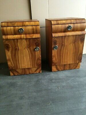 2 art deco style bedside tables