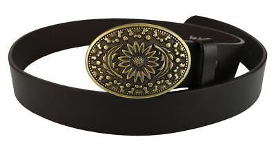 Change Belt Leather with Buckle Closure Blumenmuster Flower