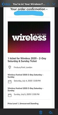 Wireless Festival Weekend 2 Day Ticket - Saturday 4th and Sunday 5th July - 2020