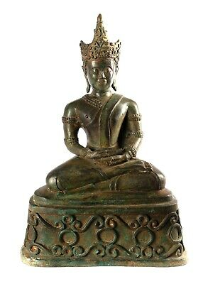 Antique Laos style SE Asia Seated Meditation Buddha Statue - 48cm/19""
