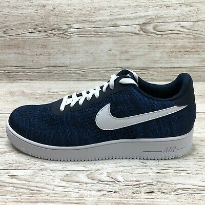 NIKE AIR FORCE 1 FLYKNIT NAVY BLUE 2.0 size UK 14 EUR 49.5