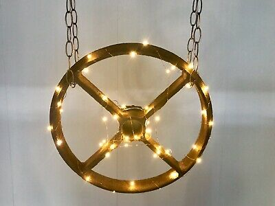 Lovely Cast Iron Vintage Wheel Lights Wedding Party Home Unique Battery Rustic