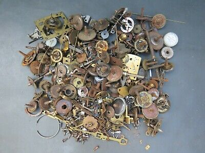 Job lot of mostly vintage mixed clock parts - parts spares steampunk