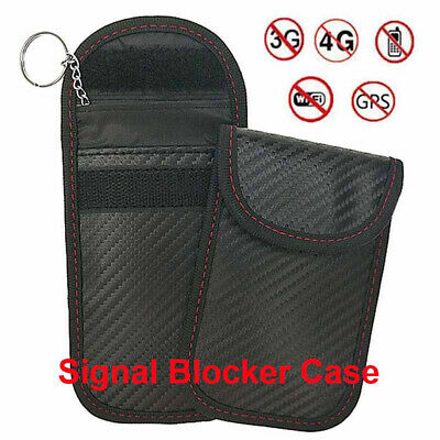 Blocking Bag Cover Signal Blocker Case Faraday Pouch For Keyless Car Keys~