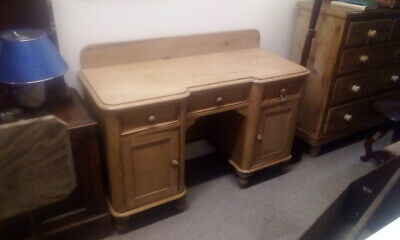 Beautiful Old Antique Victorian Pine Dressing Table Desk