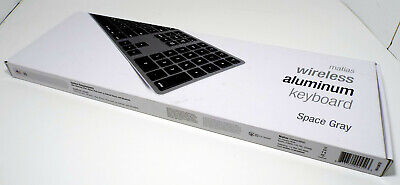 Matias bluetooth keyboard rechargeable battery (Grey) for Apple MAC& PC Windows