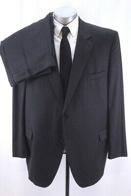 mens charcoal JACK VICTOR 2pc PANT SUIT valentino two button wool classic 52 L