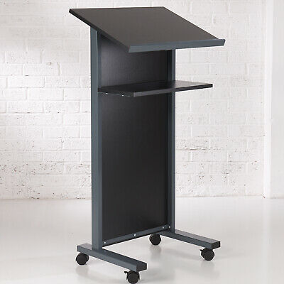 Black Panel Front Lectern