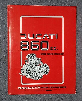 Ducati 860 cc Spare Parts Catalogue (1975) With Original Berliner Cover Letter