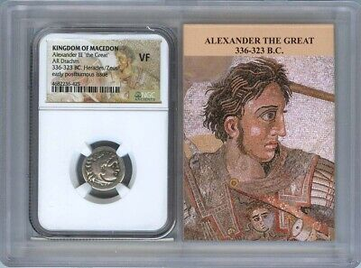 336-323 BC Alexander III The Great Drachm NGC VF Kingdom Macedon Story Vault