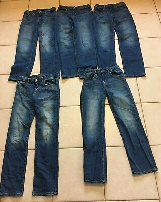 GAP Regular Straight Boys Size 14 jeans Lot of 5 Very good condition