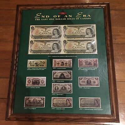"Last One Dollar Bills of Canada Collection - ""The End of an Era"""