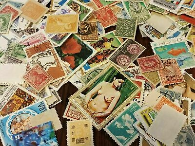 Lot Of (50 World Wide Stamps Cancelled) On Paper-Random Pick-Fast Shipping Ww