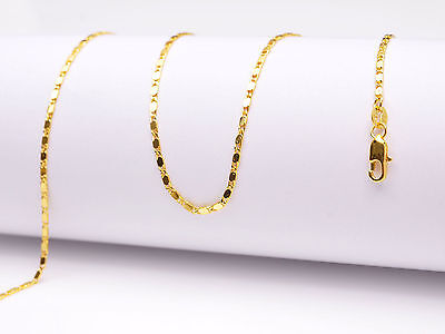 """10PC 16-18-20-22-24-26-28-30/"""" 18K Yellow Gold Filled Ball Column Chain Necklaces"""