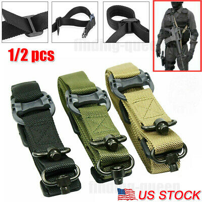 "1/2x Adjust Retro Tactical Detach QD 1 or 2 Point Multi Mission 1.2"" Rifle Sling"