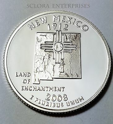 2008 S NEW MEXICO  *90/% SILVER PROOF*  STATE QUARTER   **FREE SHIPPING**