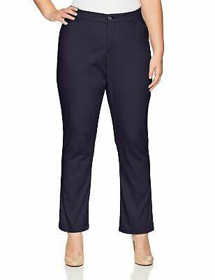 Lee Womens Pants Rinse Blue Size 16WP Plus Petite Eased-Fit Stretch $54- 905