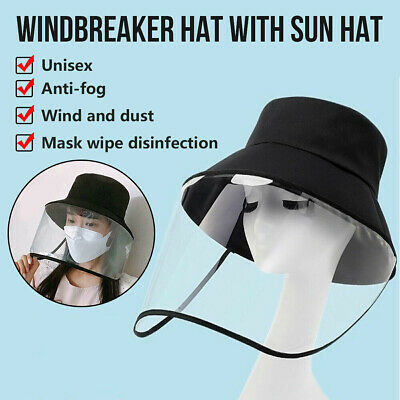 AU Hot Anti-spitting Protective Hat Cover Outdoor Anti- Fisherman Hat Adjustable