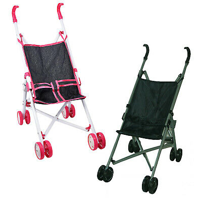 Baby Doll Buggy Jogger Foldable Stroller Pink / Blue Pushchair Accessories Toy