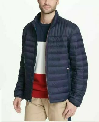 Black Blue L NWOT HAWKE /& CO HDN570 Quilted Packable DOWN Puffer Jacket Coat