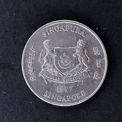 Singapore 20 Cents 1997 Singapura Foreign Coin