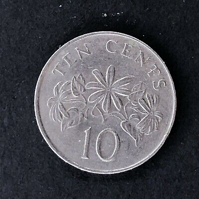 Singapore 10 Cents 1987 Singapura Foreign Coin