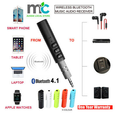 3.5mm Wireless Bluetooth Car Kit Handsfree Music Audio Receiver to Car AUX