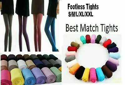Ladies Footless Tights 100 Denier Opaque Best Match S/ M/L /XL/ XXL Many Colour