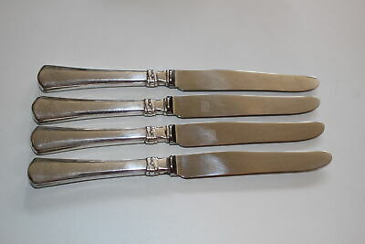 "4 Christian F. Heise Danish Silver 10"" Dinner Knives-Art Nouveau"